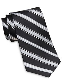 Rochester Designed in Italy Tonal Textured Stripe Silk Tie