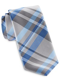 Synrgy InteliStretch Performance Large Textured Plaid Tie
