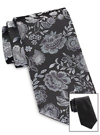 Synrgy Reversible Bold Floral Tie