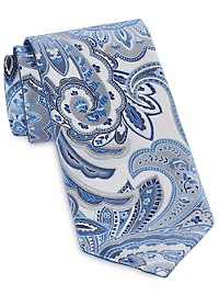 Synrgy Reversible Contrast Paisley Tie