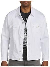 True Nation White Stretch Denim Jacket