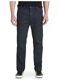 True Nation Modern Moto Taper-Fit Stretch Jeans