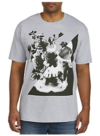 Skull with Flowers Graphic Tee
