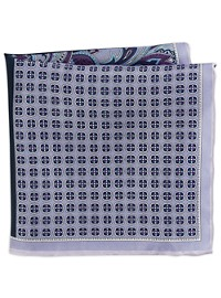 Rochester Paisley Neat Multi Silk Pocket Square