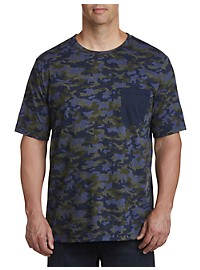 Harbor Bay Moisture-Wicking Camo Pocket T-Shirt