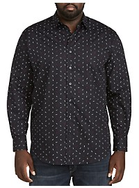 Synrgy Bowtie Print Sport Shirt
