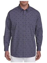 Harbor Bay Easy-Care Pinwheel Pattern Sport Shirt