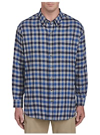Harbor Bay Gingham Flannel Shirt