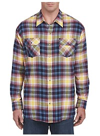 Harbor Bay Tartan Plaid Flannel Shirt