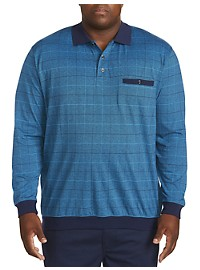 Harbor Bay Stripe Check Polo Shirt