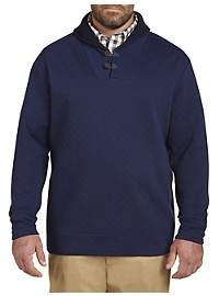 Oak Hill Quilted Shawl-Collar Fleece Pullover