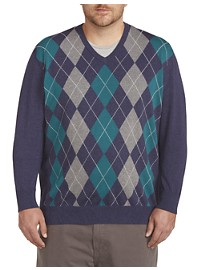 Harbor Bay V-Neck Argyle Sweater