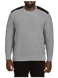 Twenty-Eight Degrees Grey Pullover with Faux Leather