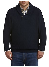 Oak Hill Shawl-Collar Textured Sweater