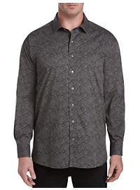 Twenty-Eight Degrees Rose Print Sport Shirt