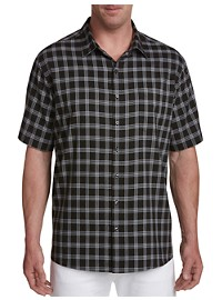 Synrgy Microfiber Glen Plaid Sport Shirt