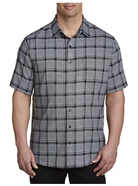 Synrgy Microfiber Medium Plaid Sport Shirt