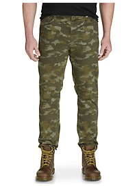True Nation Camo Taper-Fit Stretch Twill Pants