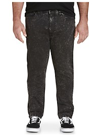 True Nation Acid Wash Taper-Fit Stretch Jeans