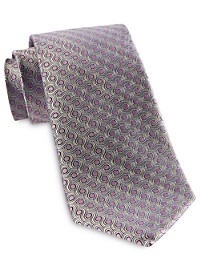 Rochester Designed in Italy Spiral Dot Silk Tie