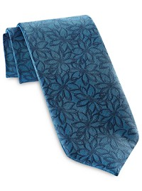 Synrgy Tonal Floral Revesible Tie