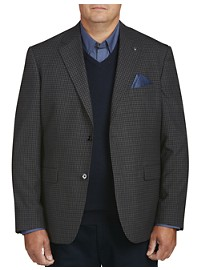 Oak Hill Small Check Sport Coat- Executive Cut
