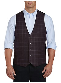 Oak Hill Reversible Windowpane Plaid Vest