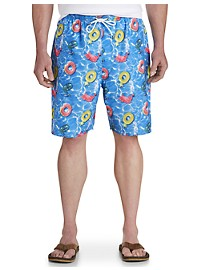 Island Passport Floats-in-Pool Swim Trunks