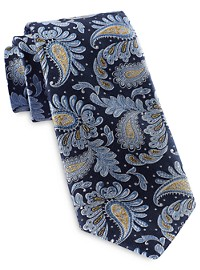 Rochester Designed in Italy Textured Leaf Paisley Silk Tie