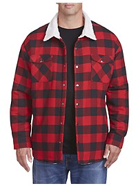 True Nation Faux Sherpa-Lined Buffalo Plaid Jacket