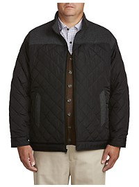Oak Hill Quilted Contrast-Trim Jacket
