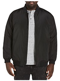 Synrgy Faux-Leather Trim Bomber Jacket