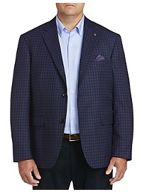 Oak Hill Medium Check Sport Coat - Executive Cut