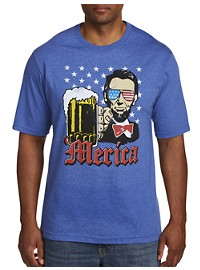 Abe Loves 'Merica Graphic Tee