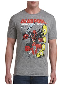Retro Brand Deadpool in Action Graphic Tee