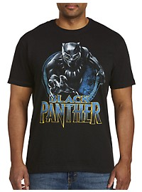 Marvel Comics Black Panther Round Badge Graphic Tee