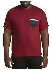 PX Clothing Novelty Mesh Pocket T-Shirt