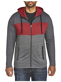 PX Clothing Colorblock Full-Zip Hoodie
