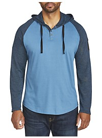 PX Clothing Long-Sleeve Hooded Henley