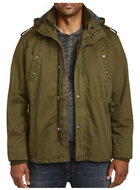 PX Clothing Military-Inspired Cargo Jacket