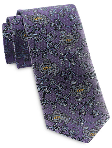 90c86485 Rochester Designed in Italy Floating Vine Paisley Silk Tie photo