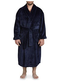 Harbor Bay Shadow Stripe Fleece Robe