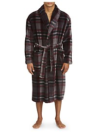 Majestic Plaid Fleece Robe