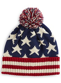 New York Accessory Group Flag Pom Hat