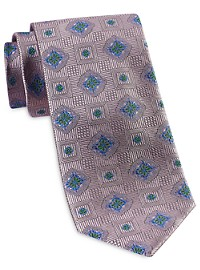 Rochester Designed in Italy Multi Floral Medallion Tie