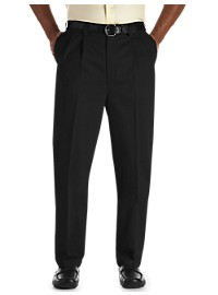 Oak Hill Pleated Premium Stretch Cotton Pants – Unhemmed