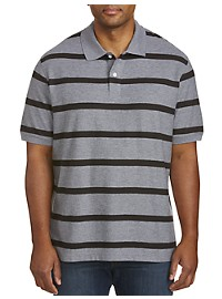 Harbor Bay Short-Sleeve Rugby Stripe Polo Shirt