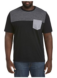 Harbor Bay Slub Stripe Pocket T-Shirt