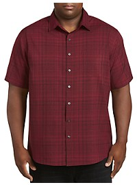 Synrgy Medium Plaid Microfiber Sport Shirt