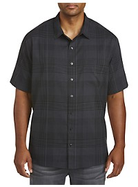 Harbor Bay Small Plaid Microfiber Sport Shirt